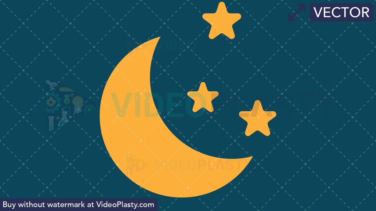 Night Icon Vector Clipart