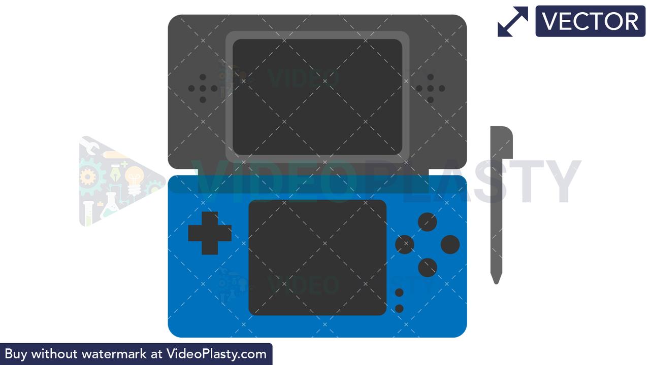 Nintendo DS Icon Vector Clipart