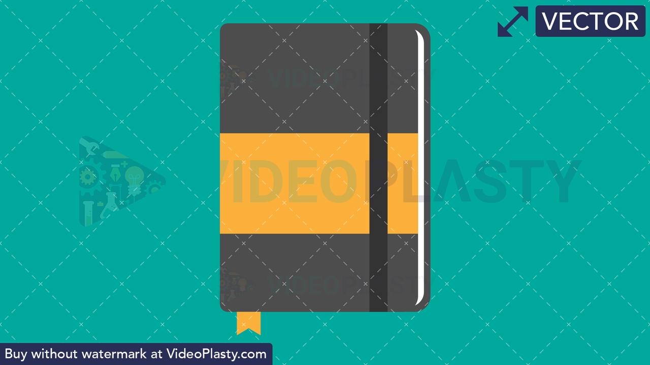 Notebook Flat Icon Vector Clipart