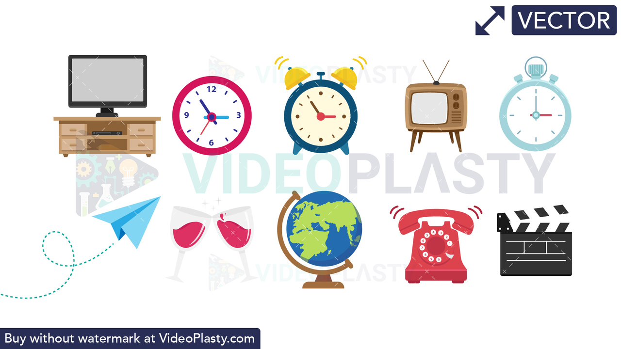 Objects Bundle #1 Vector Clipart