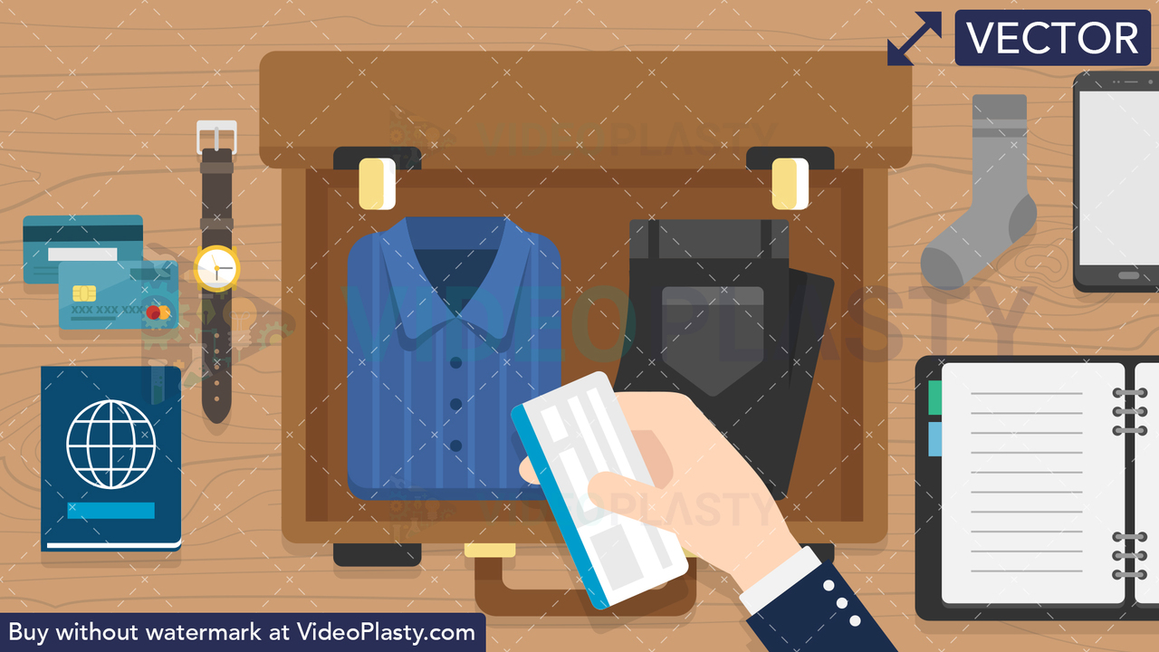 Packing Scene Vector Clipart