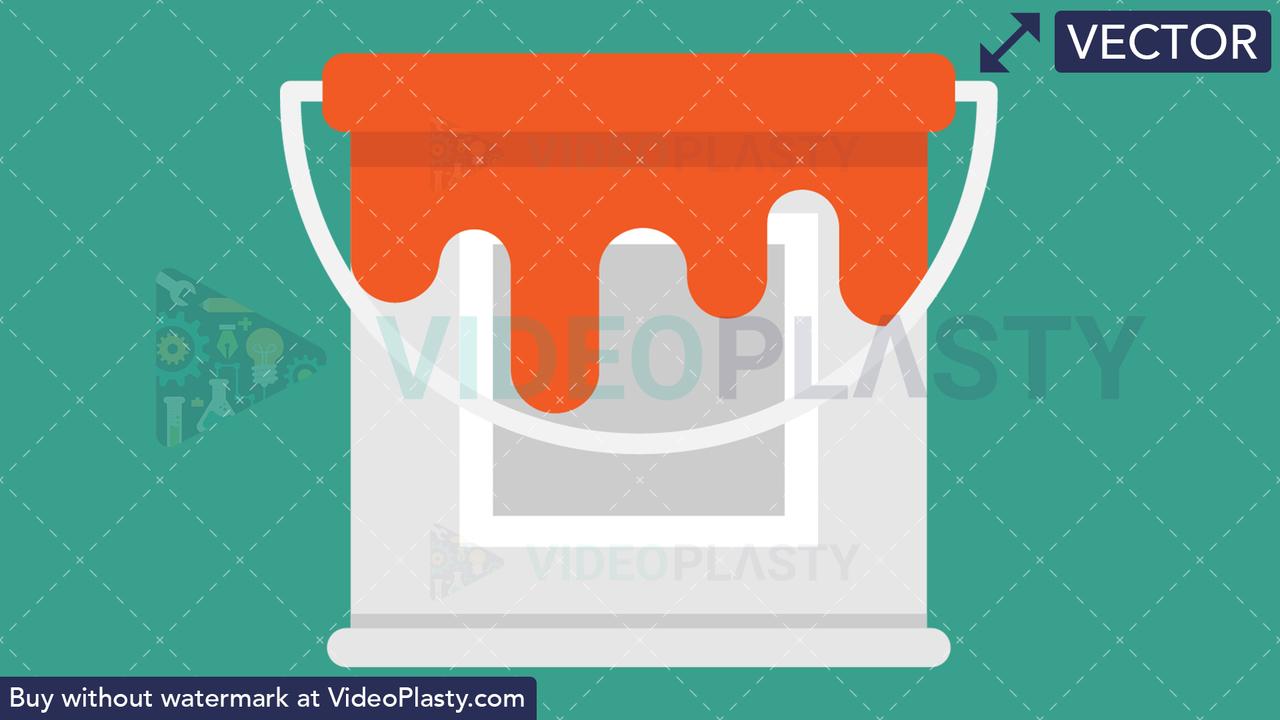 Paint Bucket Icon Vector Clipart