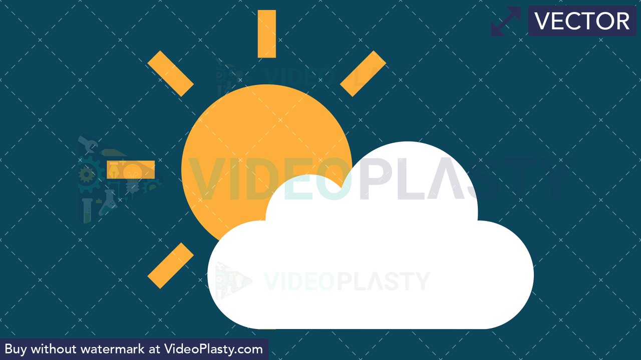 Partly Sunny Icon Vector Clipart
