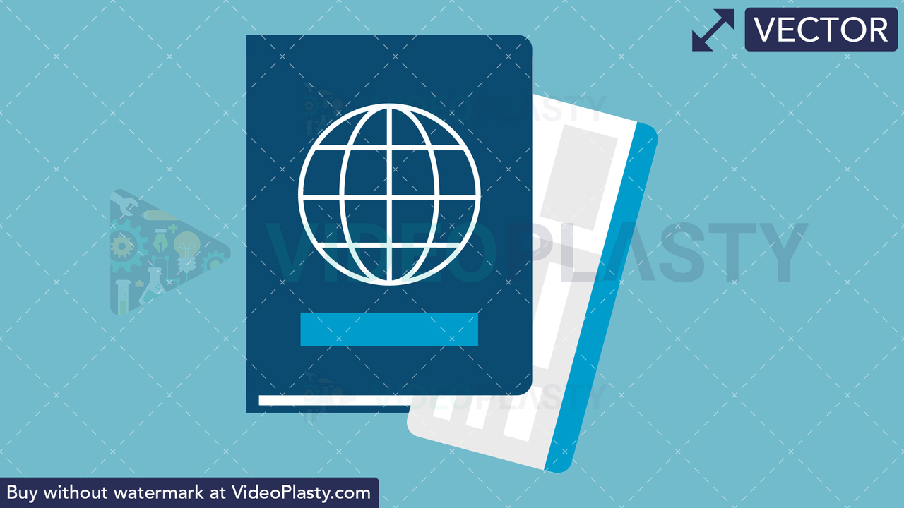 Passport Flat Icon Vector Clipart