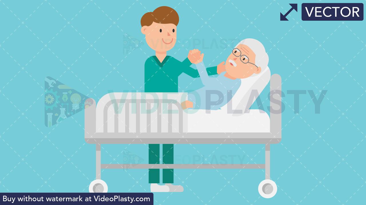 Patient Care Vector Clipart