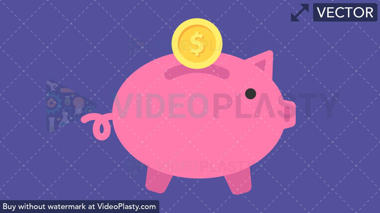 Piggy Bank Vector Clipart