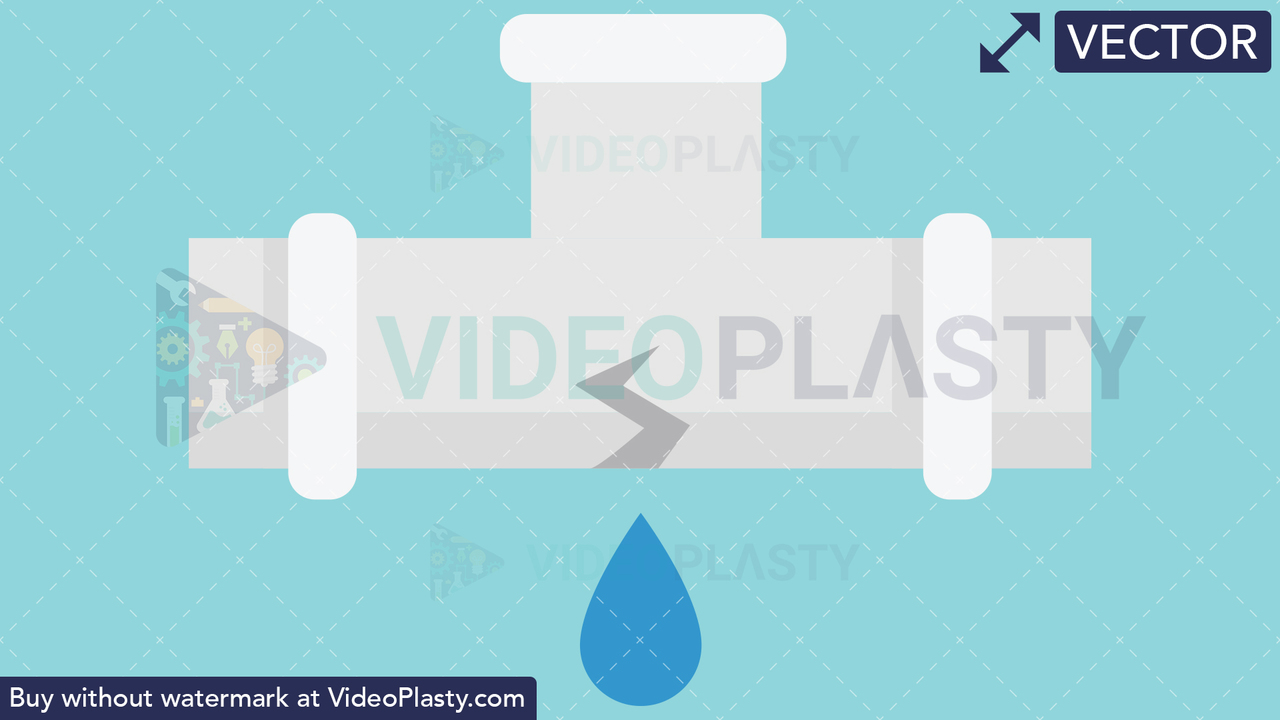 Pipe Leak Icon Vector Clipart