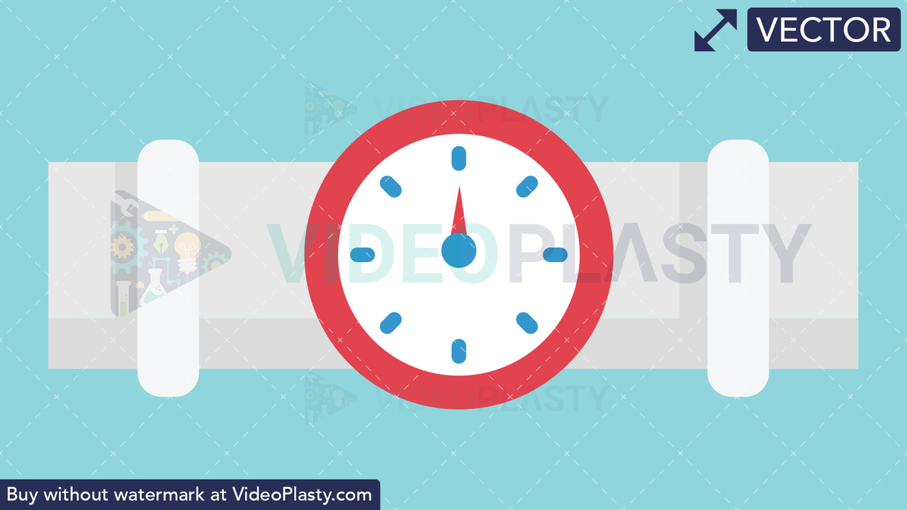 Pipe Meter Icon Vector Clipart