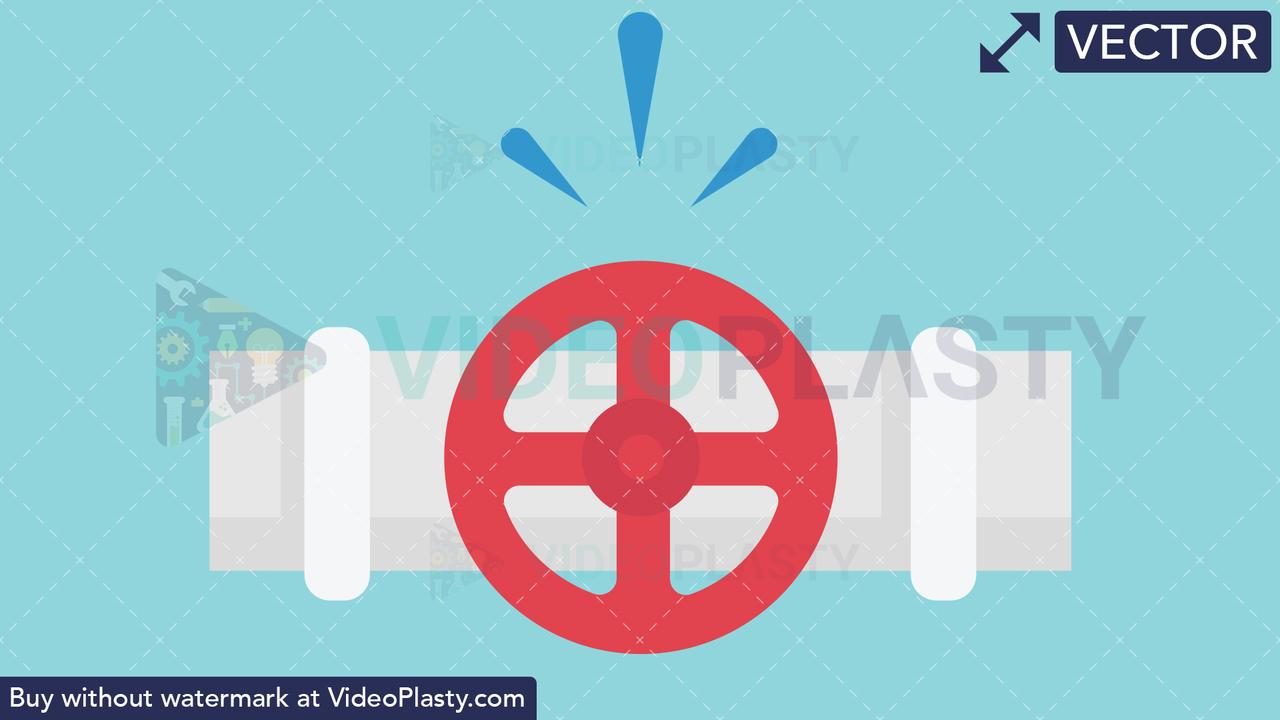 Pipe Valve Icon Vector Clipart