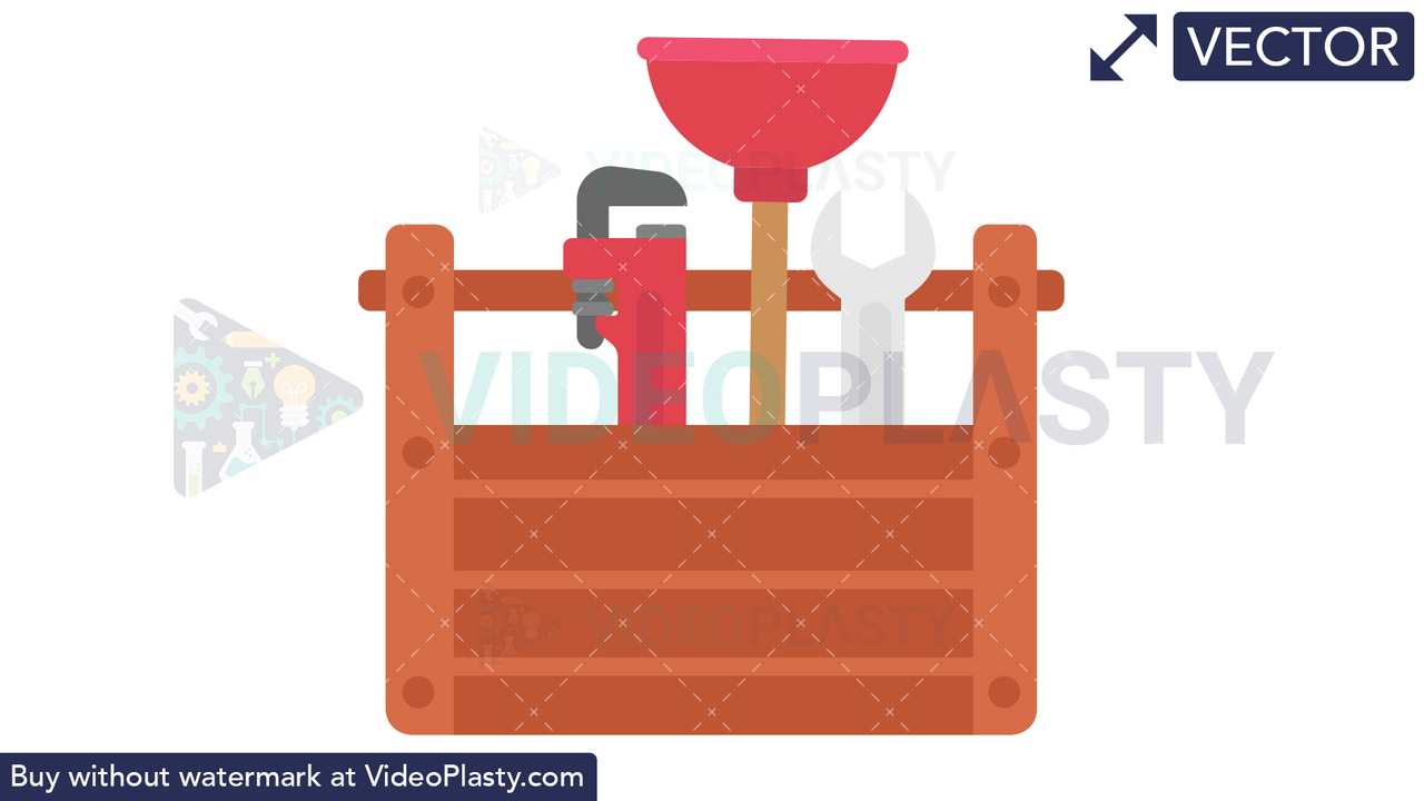 Plumbing Tools Icon Vector Clipart