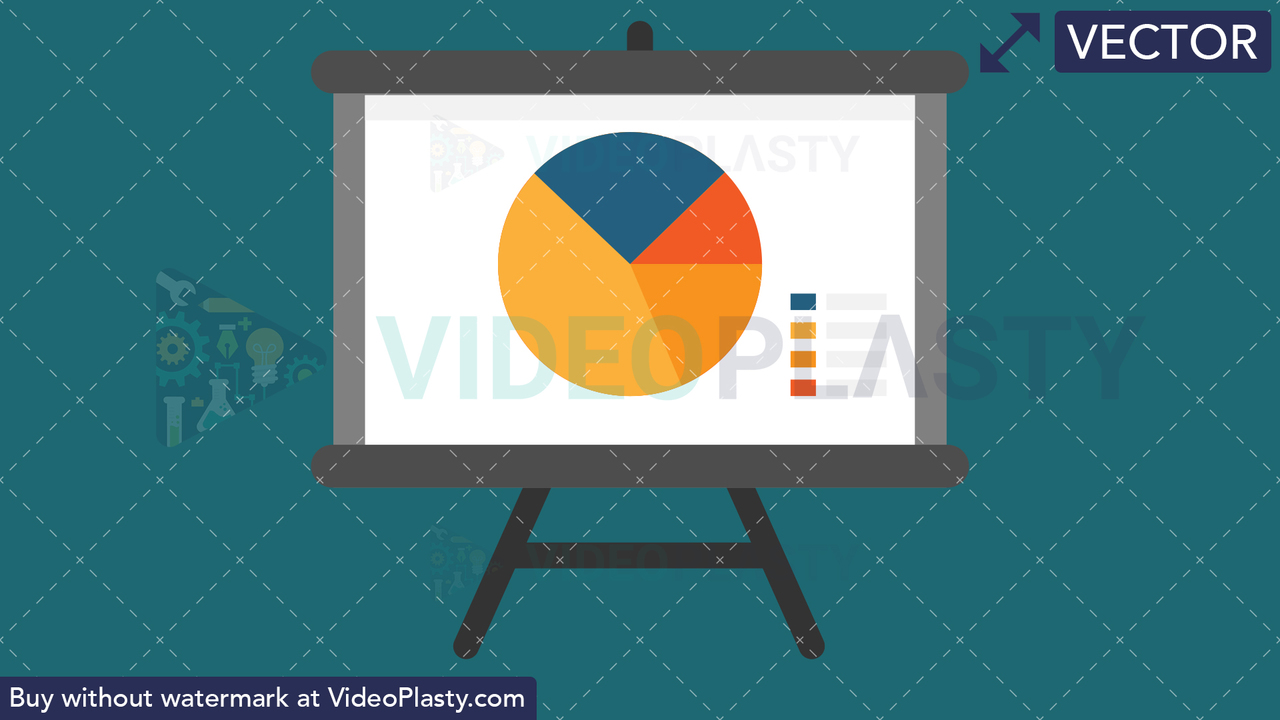 Presentation Flat Icon Vector Clipart