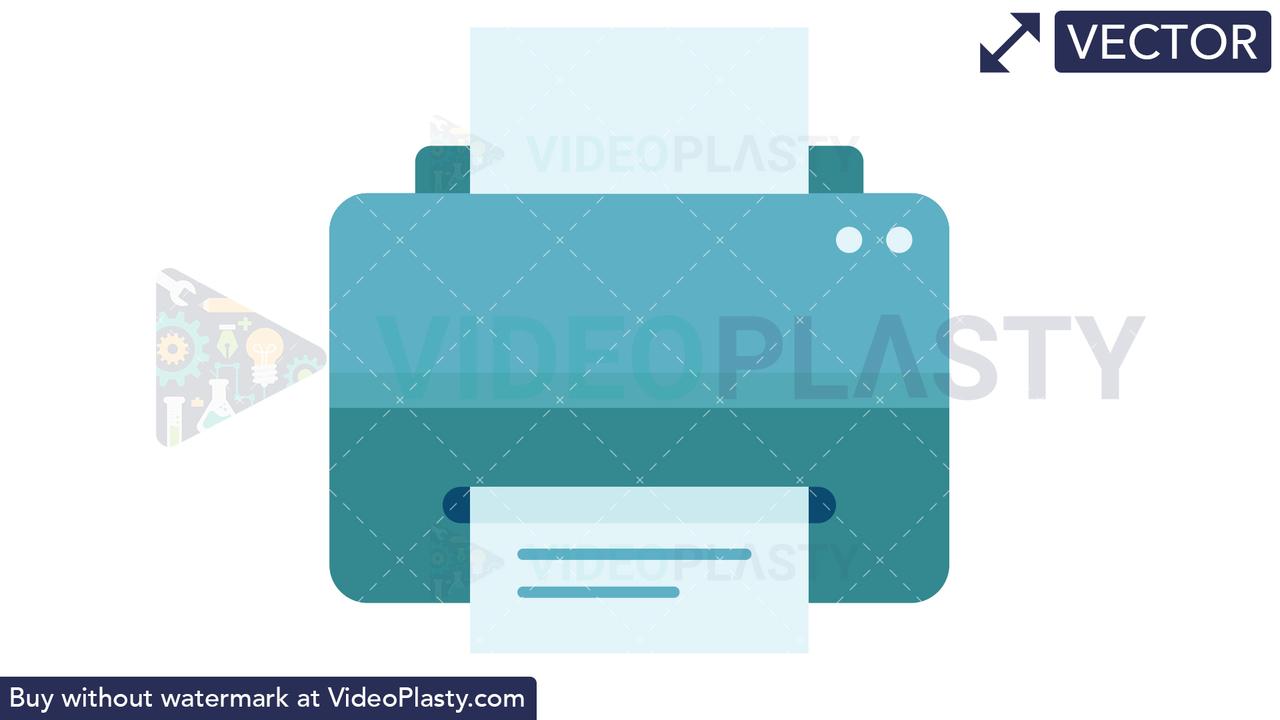Printer Icon VECTOR Vector Clipart