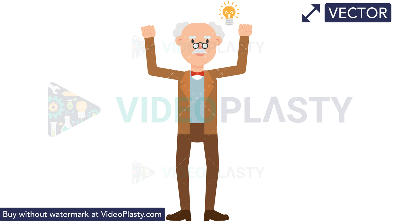 Professor Getting an Idea Vector Clipart