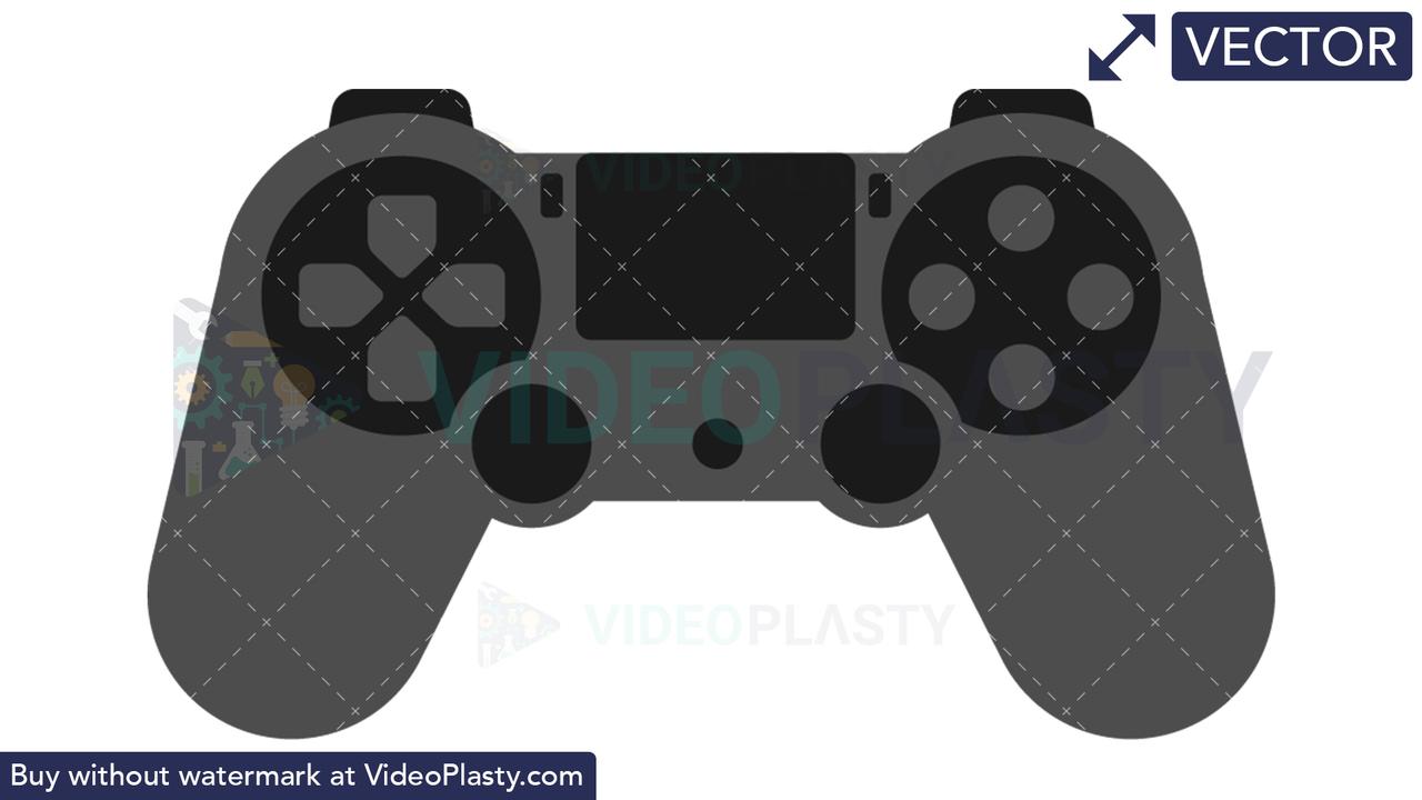 PS Controller Icon Vector Clipart