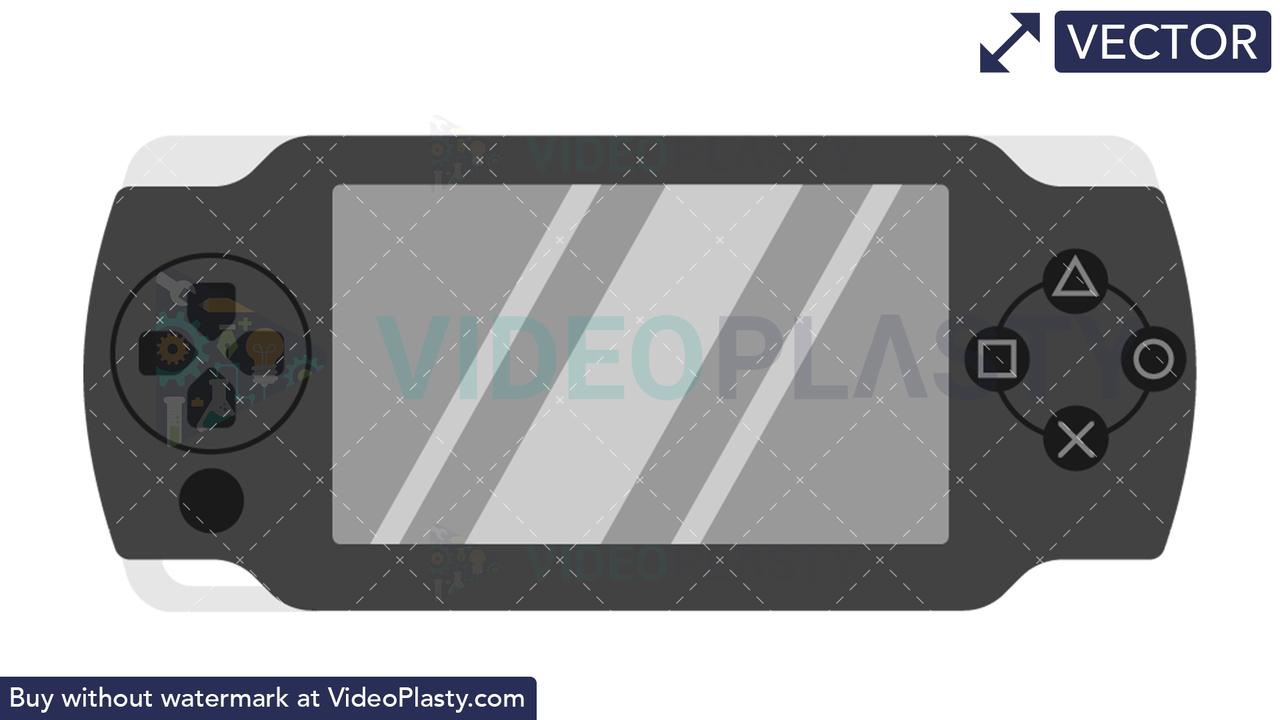 PSP Icon Vector Clipart