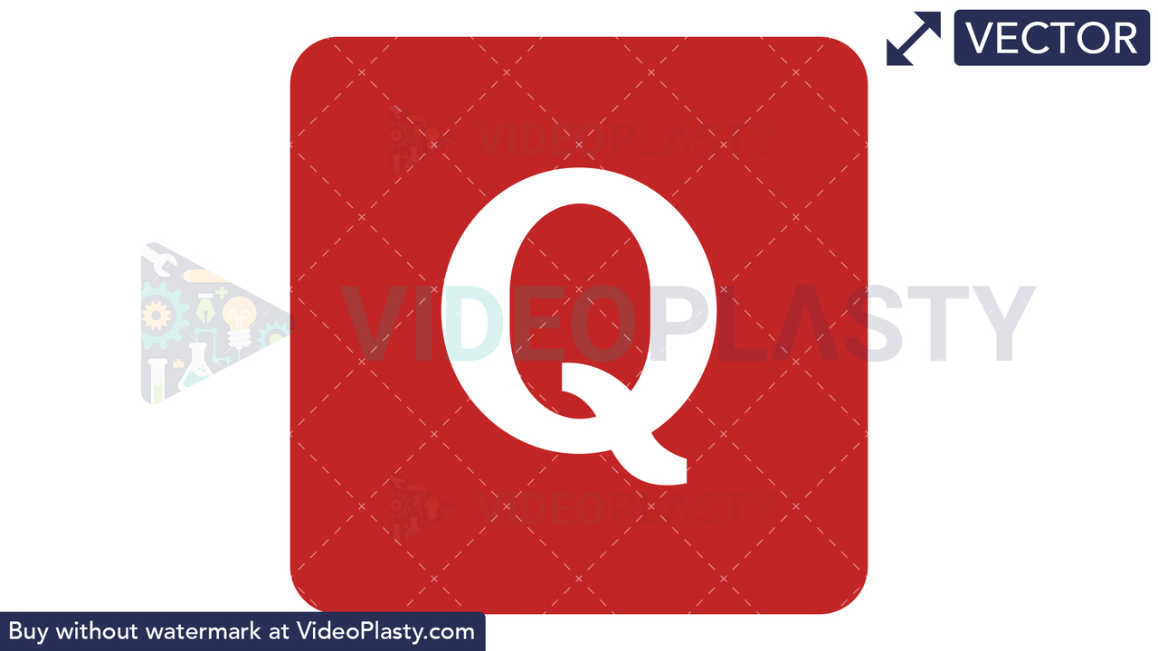 Quora Icon Vector Clipart