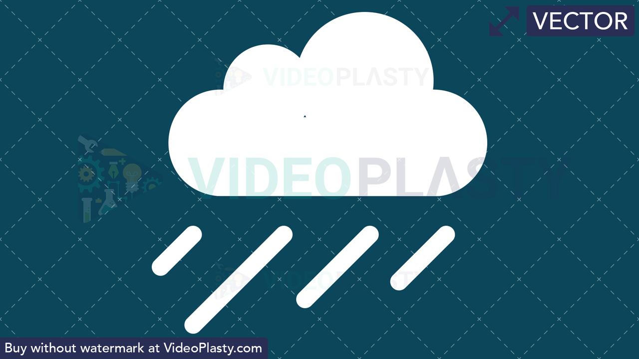 Rainy Icon Vector Clipart