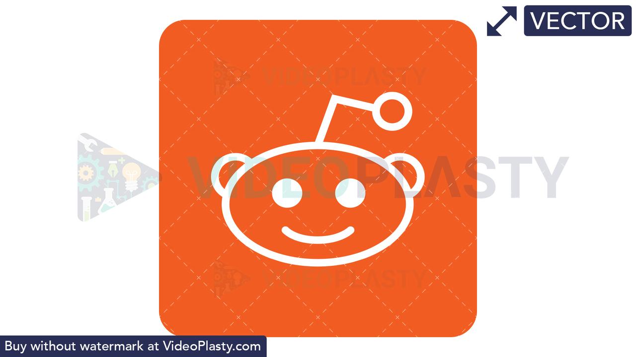 Reddit Icon Vector Clipart
