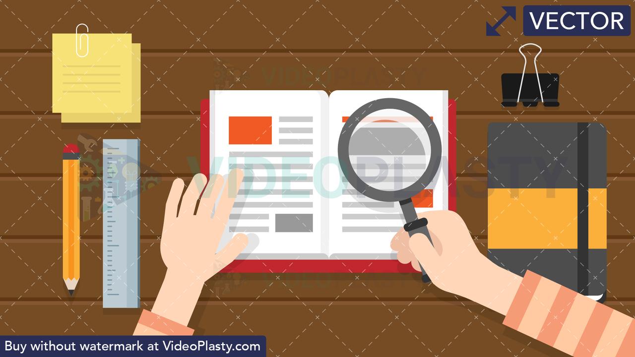 Research Scene Vector Clipart