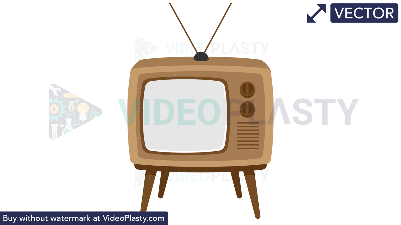 Retro TV Vector Clipart