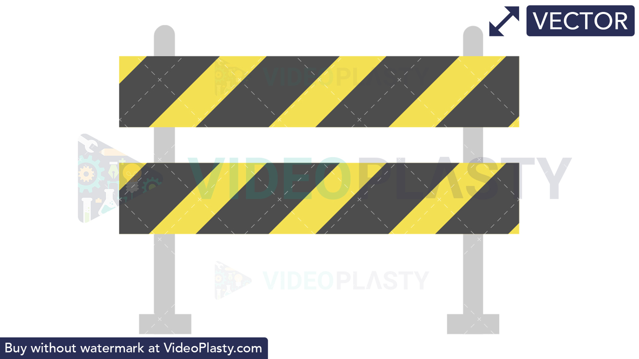 Road Block Barrier Icon Vector Clipart