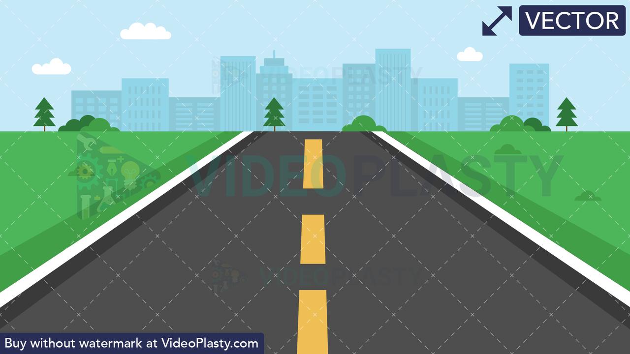 Road Moving Forward Vector Clipart