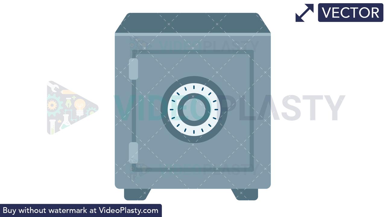 Safe Icon Vector Clipart