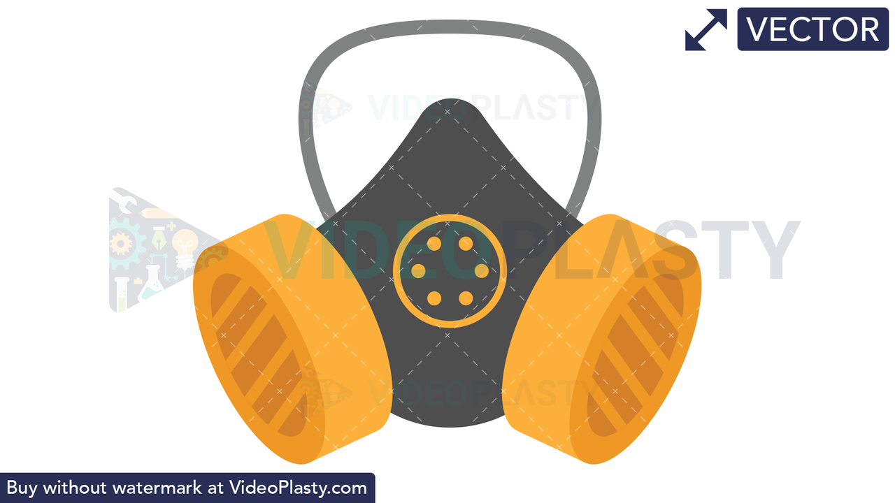 Safety Mask Icon Vector Clipart