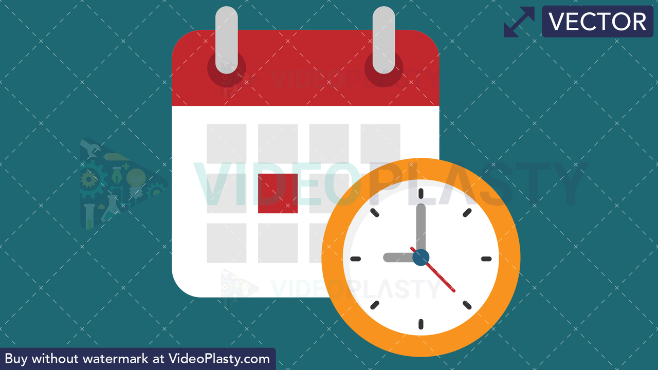 Schedule Flat Icon Vector Clipart