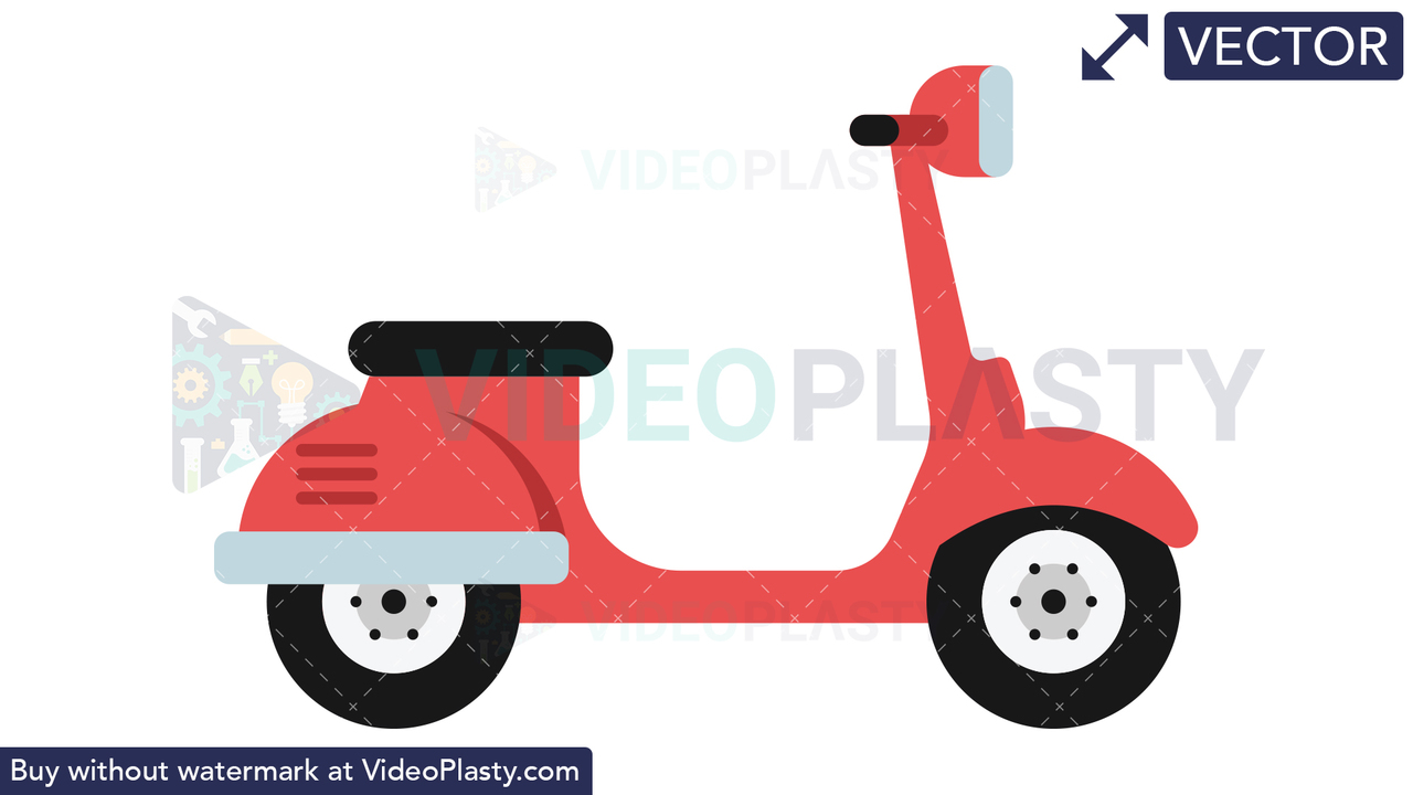 Scooter Icon Vector Clipart