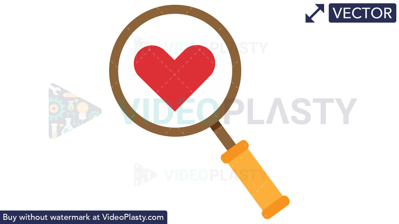 Search Love Vector Clipart