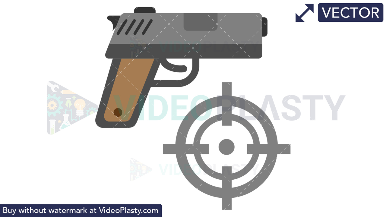 Shooting Target Icon Vector Clipart