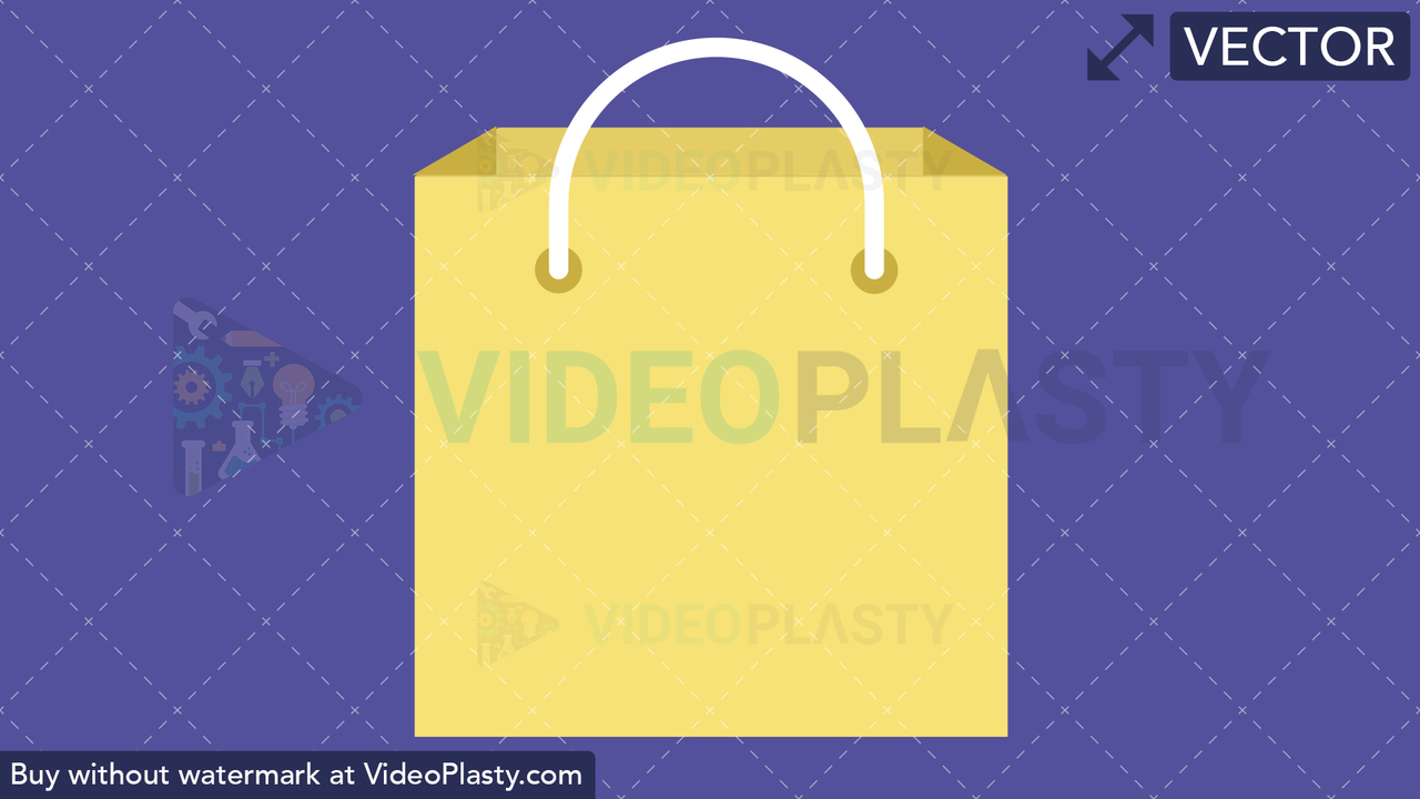 Shopping Bag Flat Icon Vector Clipart