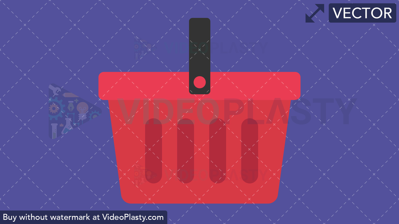 Shopping Basket Flat Icon Vector Clipart