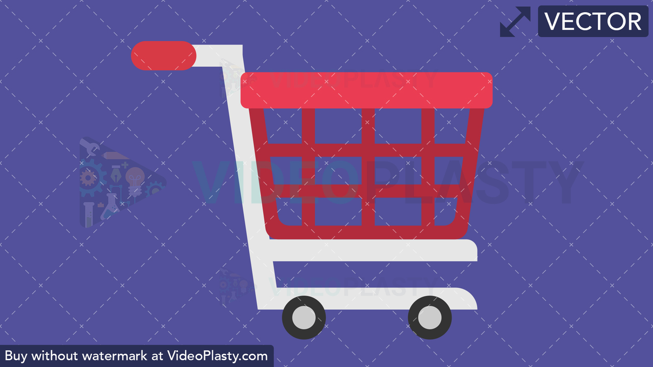 Shopping Cart Flat Icon Vector Clipart