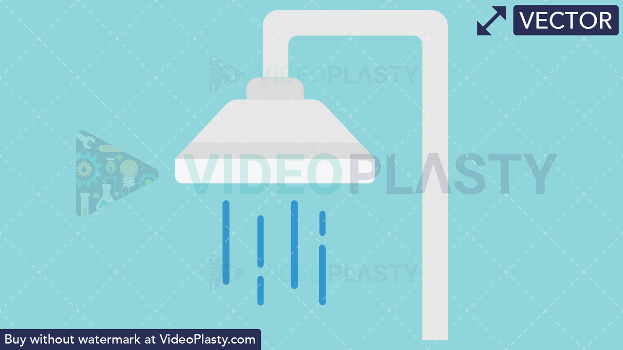Shower Icon Vector Clipart
