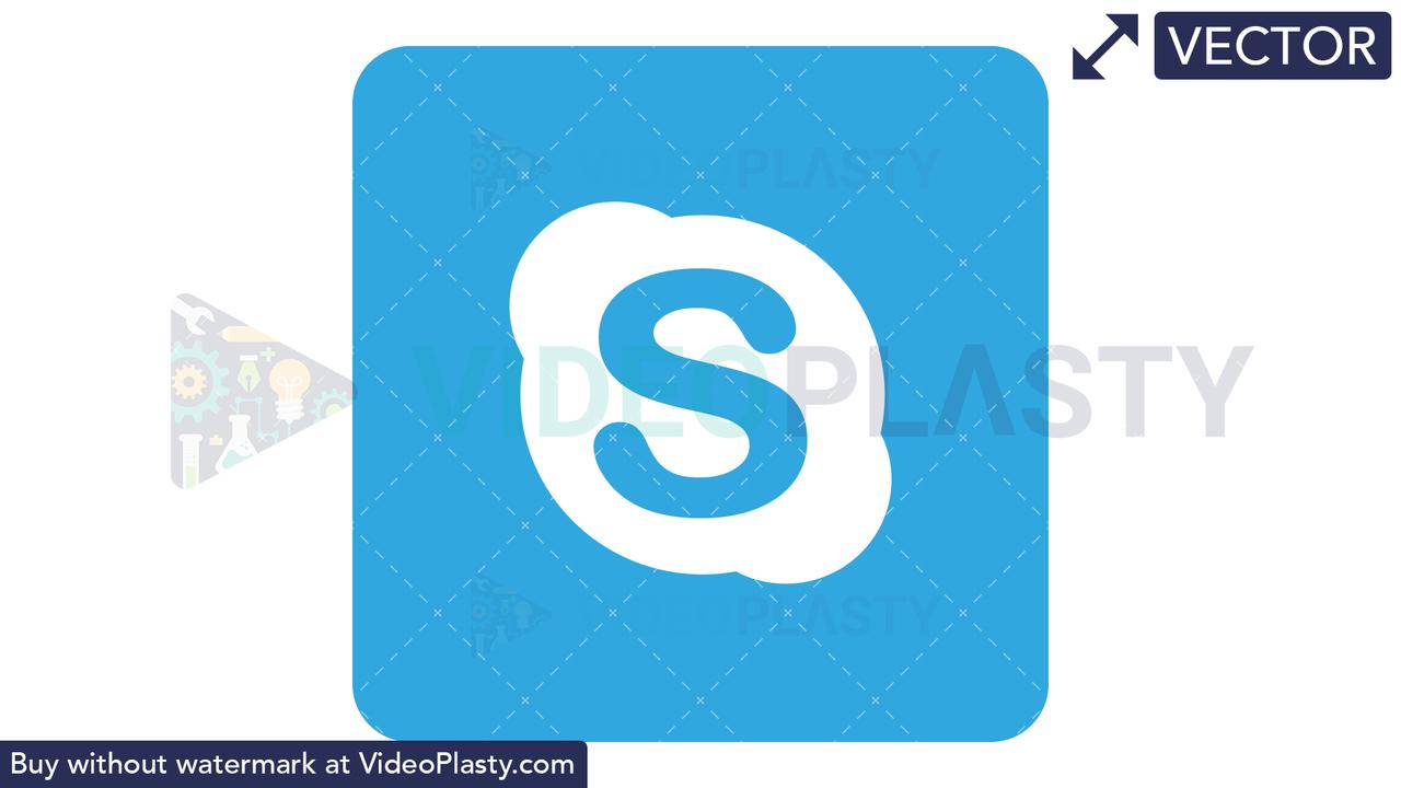 Skype Icon Vector Clipart