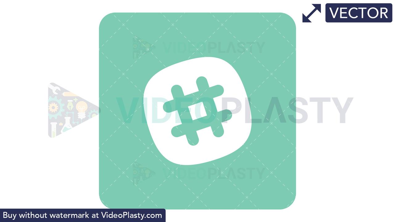 Slack Icon Vector Clipart