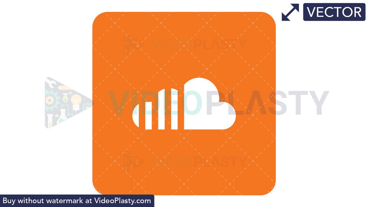 SoundCloud Icon Vector Clipart