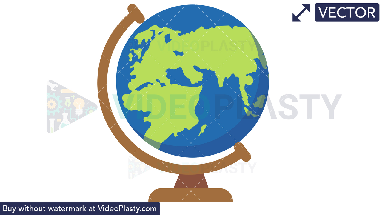 Spinning Globe Vector Clipart