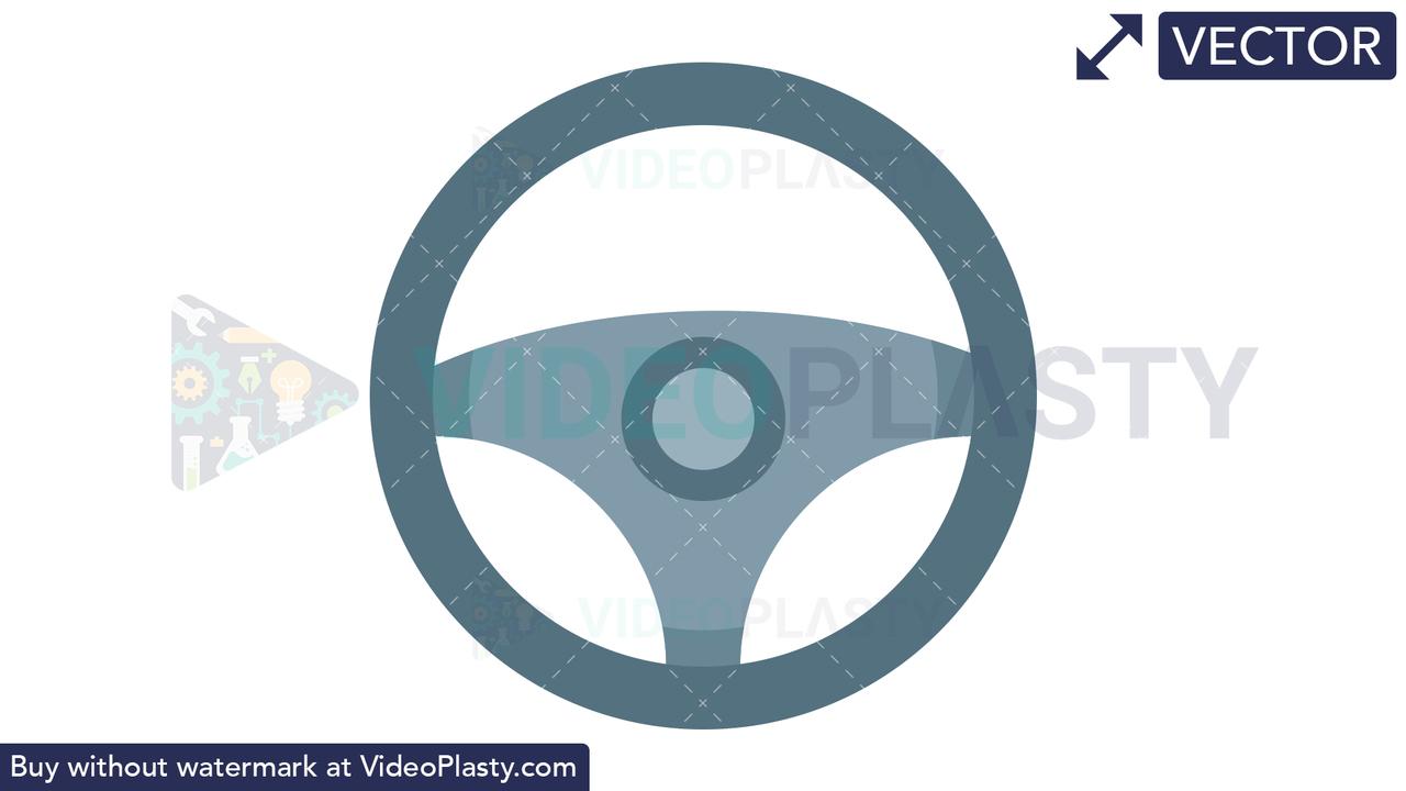 Steering Wheel Icon Vector Clipart