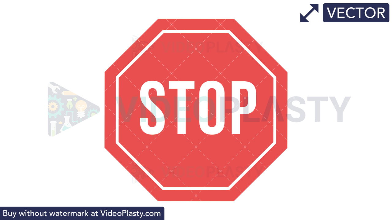 Stop Sign Icon Vector Clipart