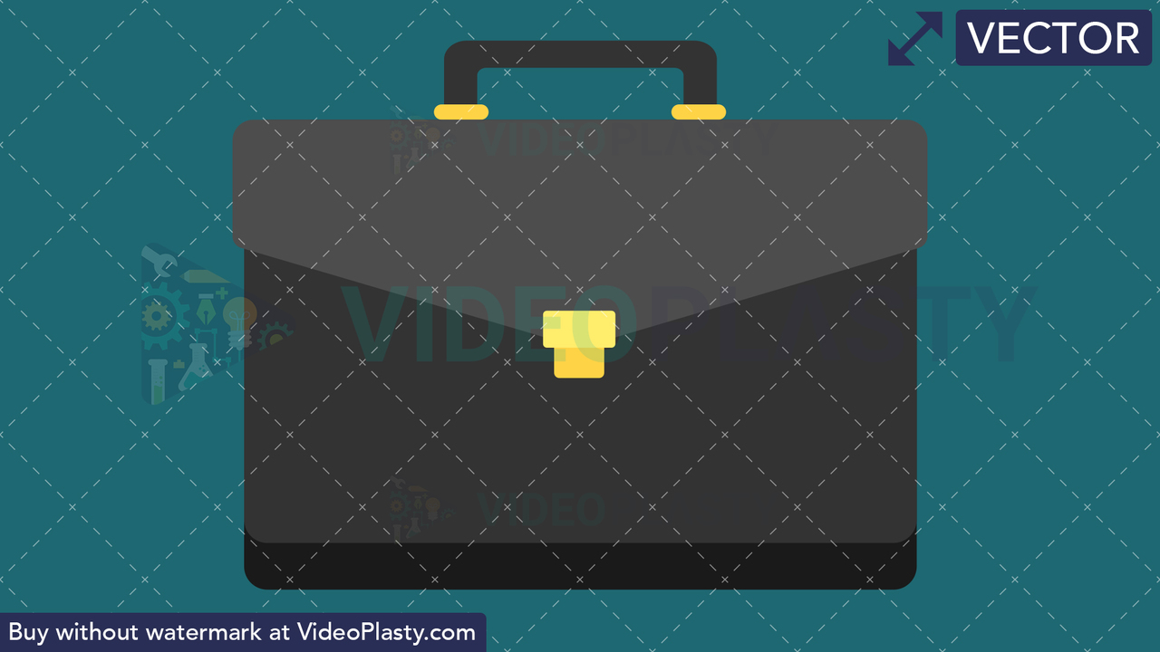 Suitcase Flat Icon Vector Clipart