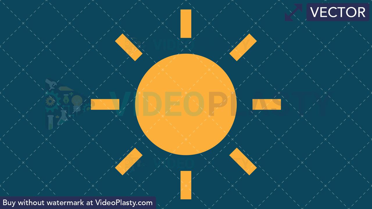 Sunny Icon Vector Clipart