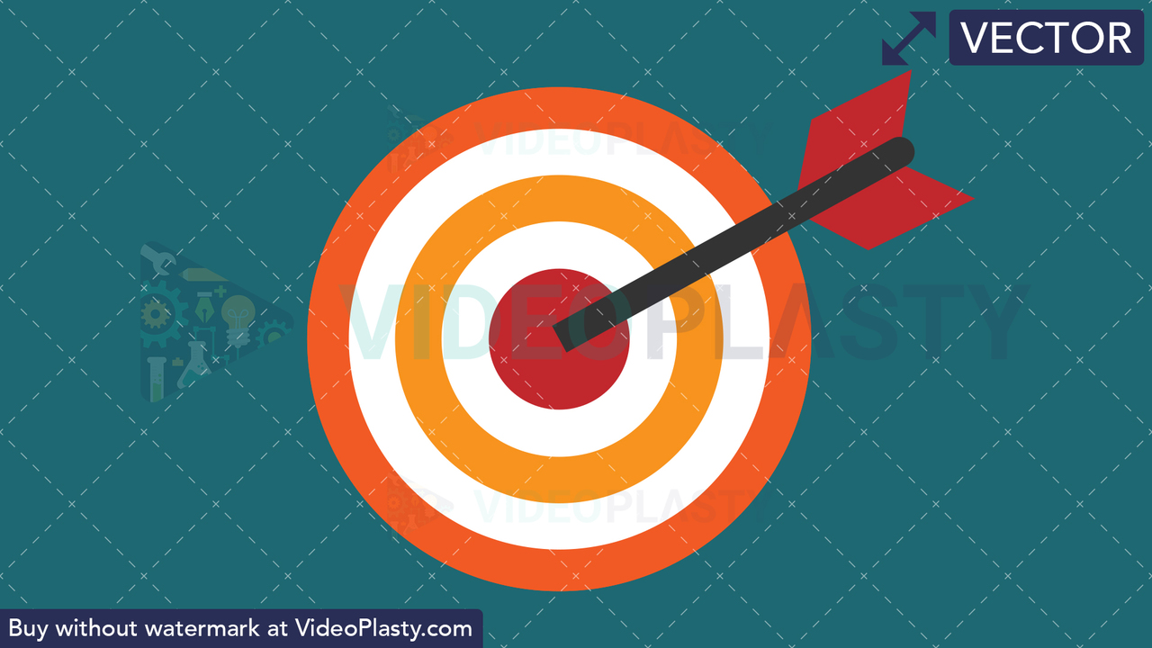 Target Flat Icon Vector Clipart