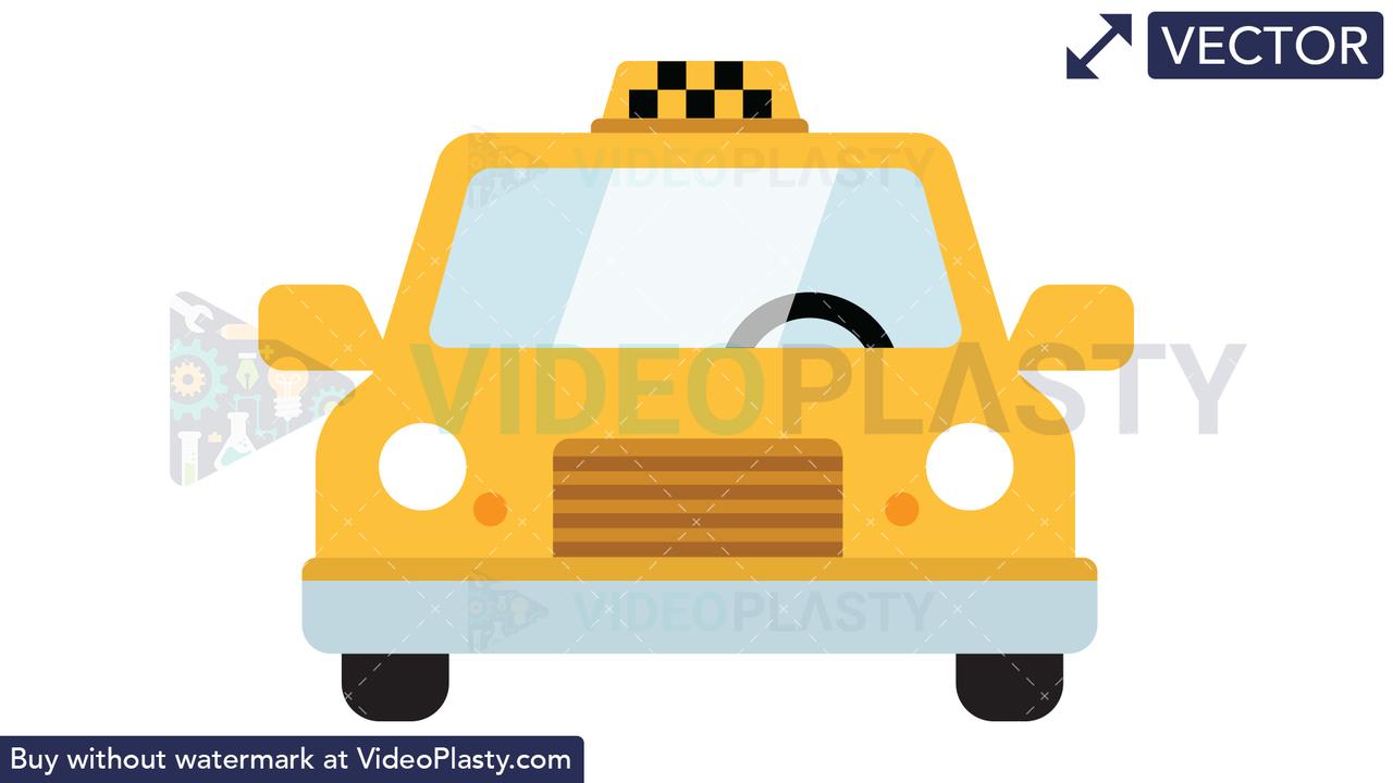 Taxi Icon Vector Clipart