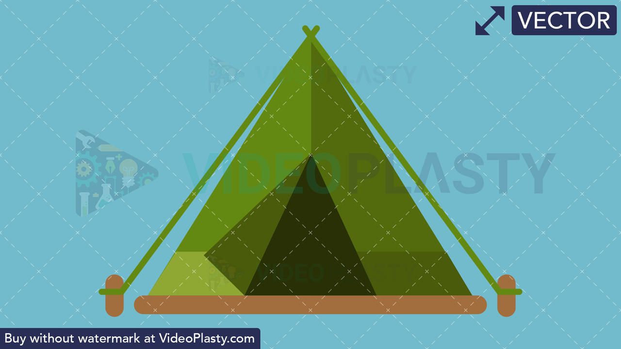 Tent Flat Icon Vector Clipart