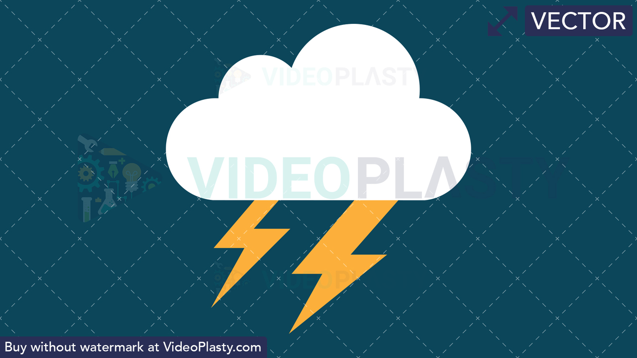 Thunderstorm Icon Vector Clipart