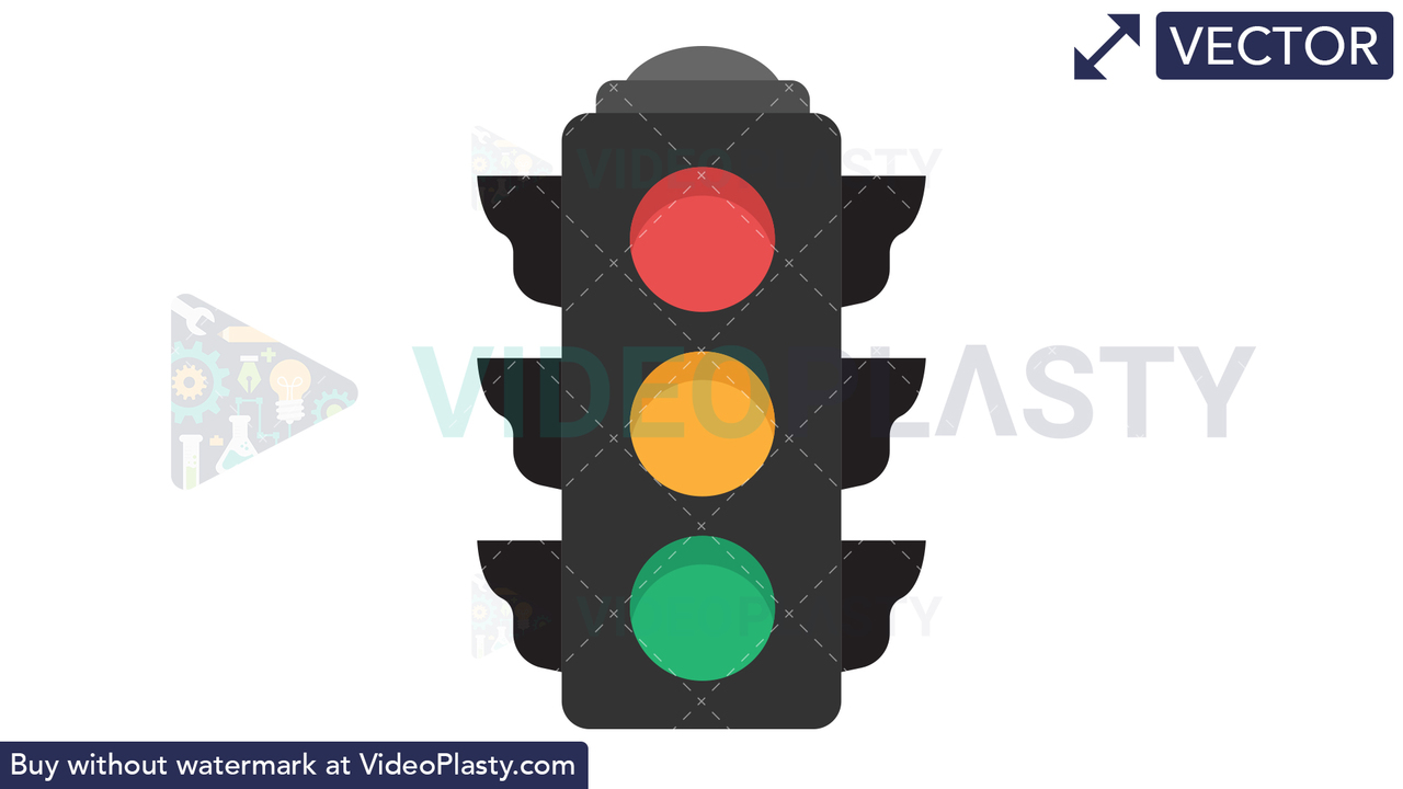 Traffic Light Icon Vector Clipart