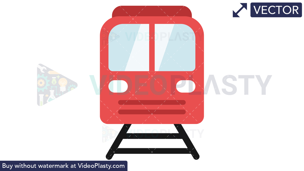 Train Icon Vector Clipart